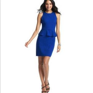 Ann Taylor Loft S 4 Cobalt Blue Peplum dress